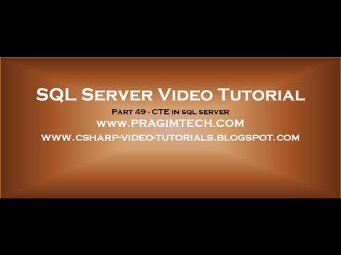 sql server cte tutorial