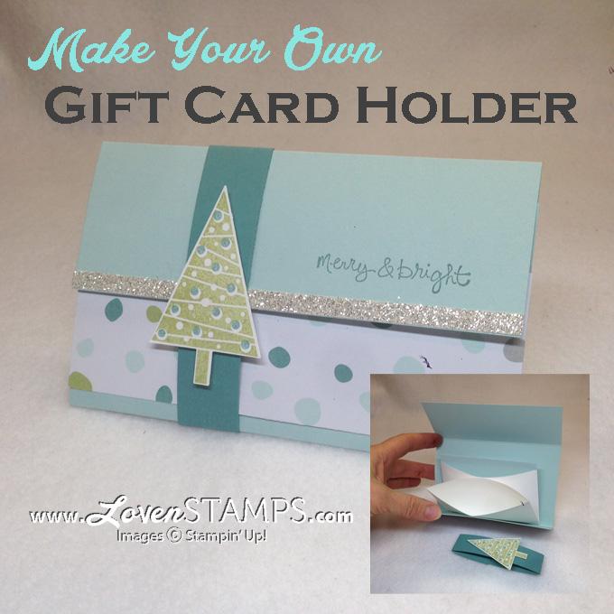stampin up gift card holder tutorial