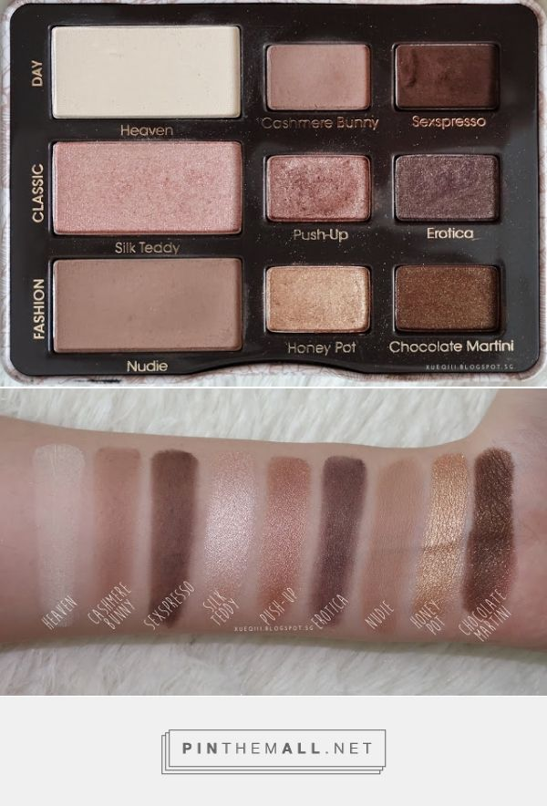 two faced natural eye palette tutorial