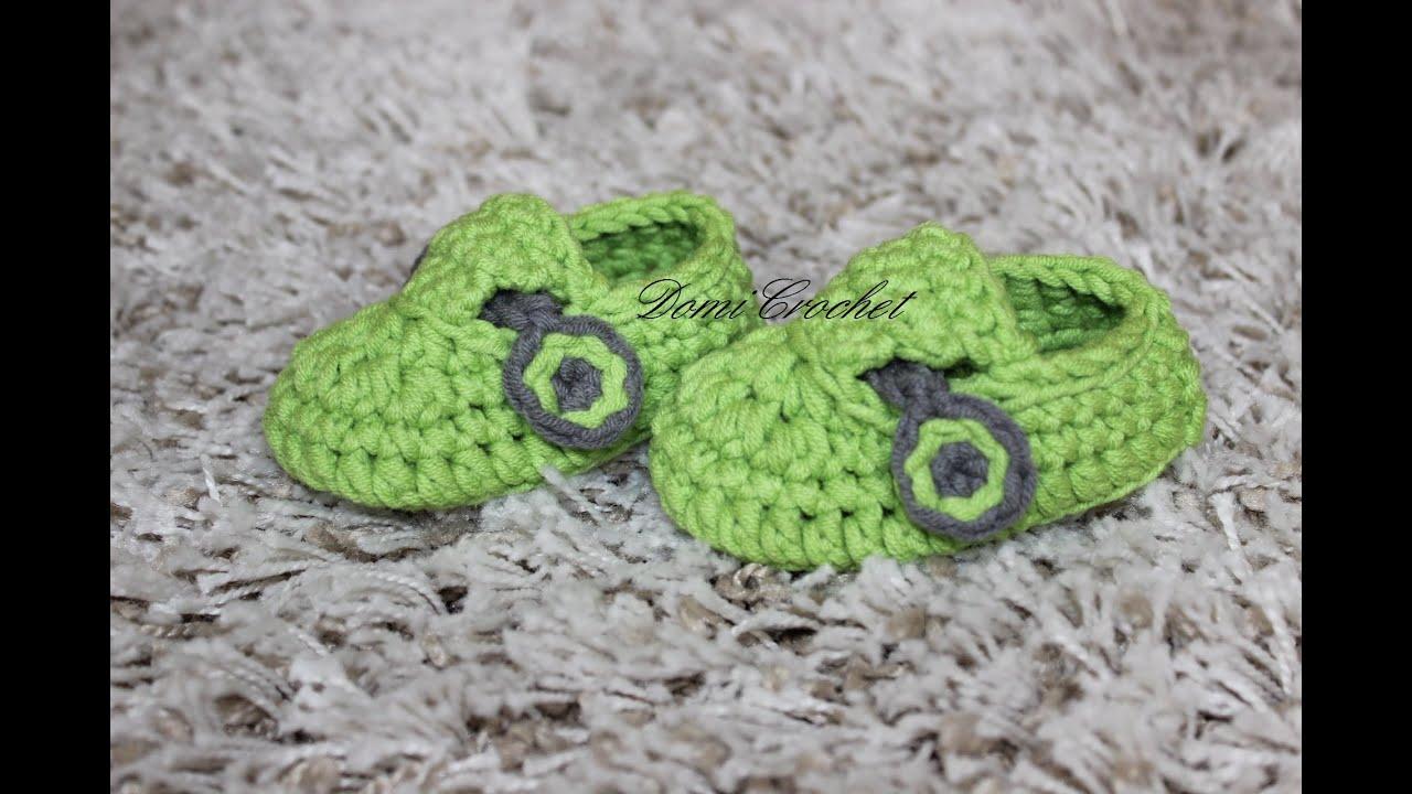 youtube crochet baby booties tutorial